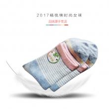 精梳棉时尚绚彩女袜